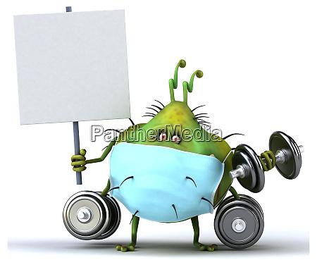 3d, illustration, of, a, monster, bug - 28277369
