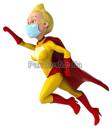 3d, illustration, of, a, superhero, with - 28277401
