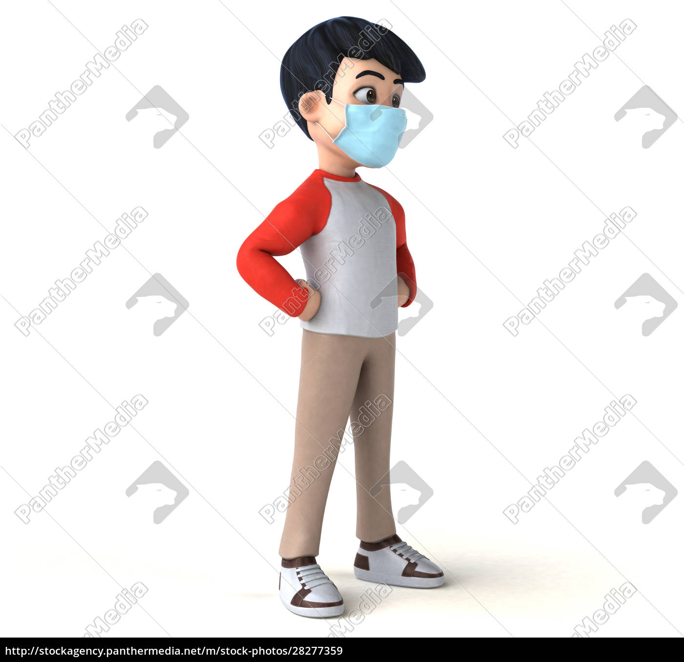 3d, illustration, of, a, teenager, with - 28277359