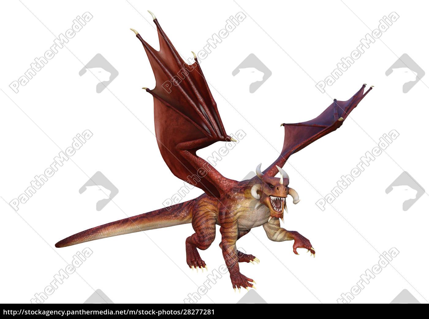 3d, rendering, fairy, tale, dragon, on - 28277281