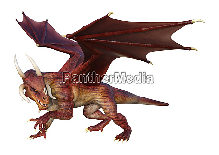 3d, rendering, fairy, tale, dragon, on - 28277288