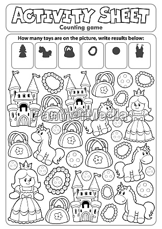 activity, sheet, counting, game, 8 - 28277603