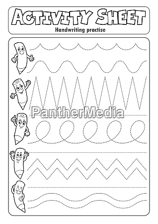 activity, sheet, handwriting, practise, 2 - 28277606