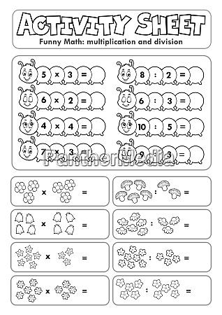 activity, sheet, math, theme, 6 - 28277557