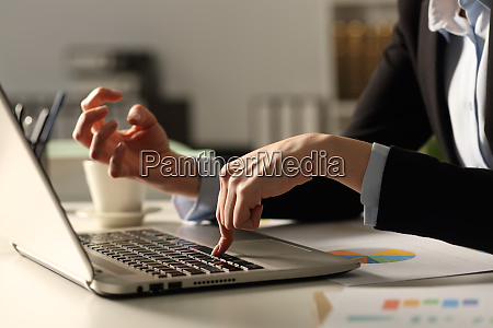 angry, executive, hands, pushing, keybord, button - 28277923