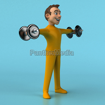 fun, 3d, cartoon, yellow, character - 28277430