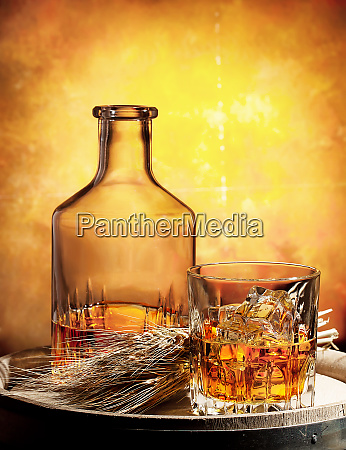 glass, of, whiskey, decanter, and, ears - 28277297