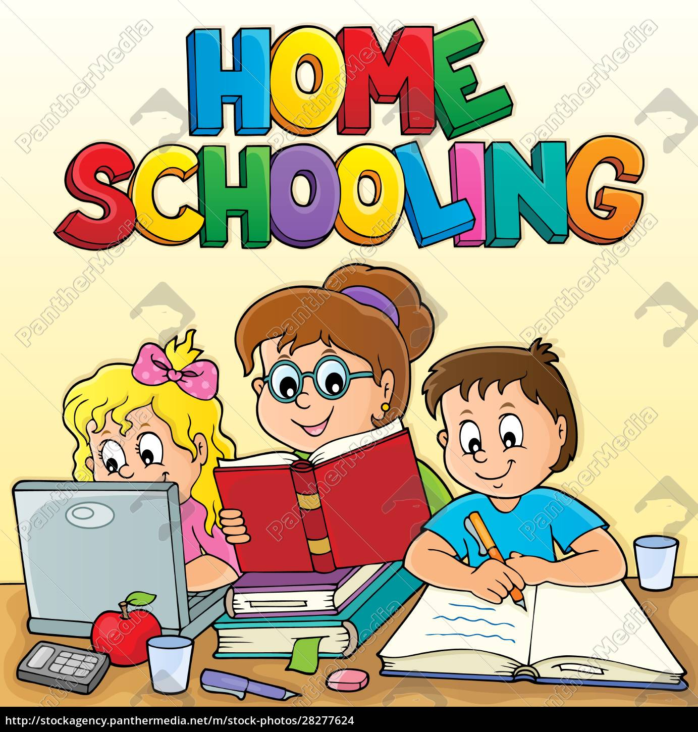home, schooling, theme, image, 2 - 28277624