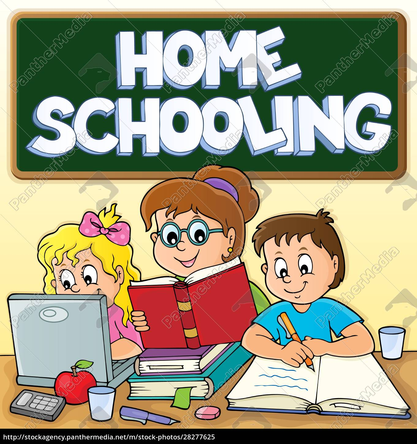 home, schooling, theme, image, 3 - 28277625