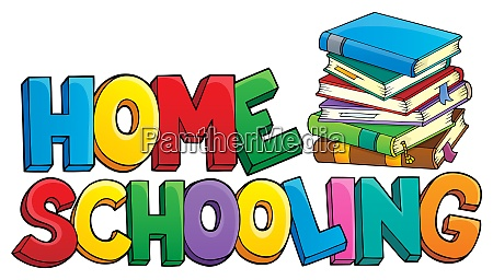 home, schooling, theme, sign, 1 - 28277627
