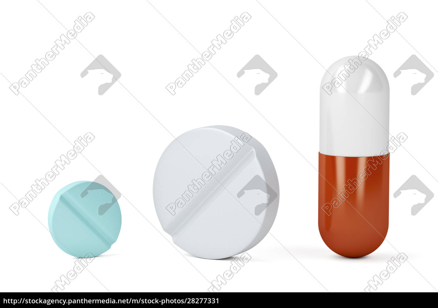 medicaments, on, white, background - 28277331