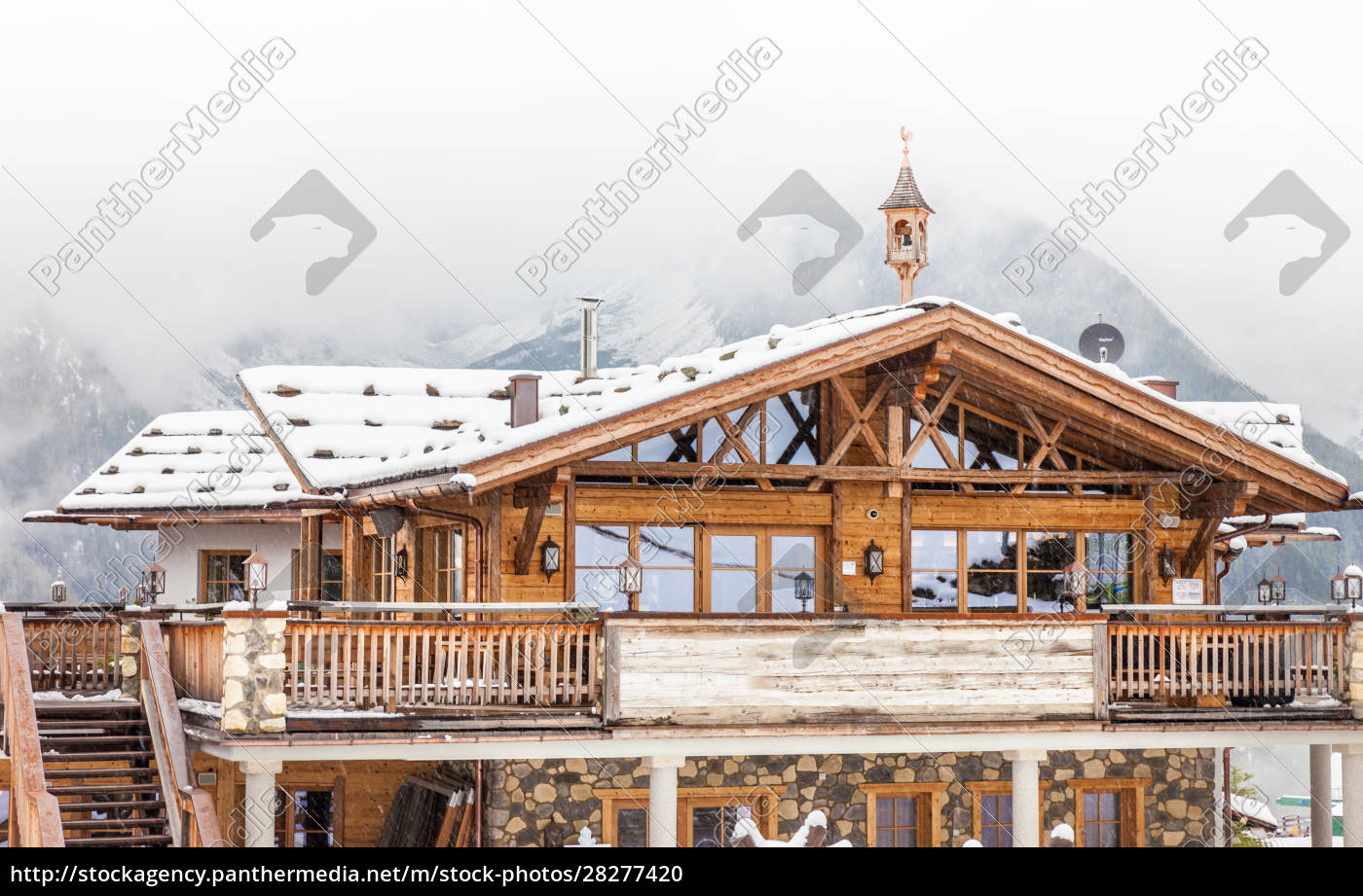 mountain, hut, in, winter, , south, tyrol - 28277420