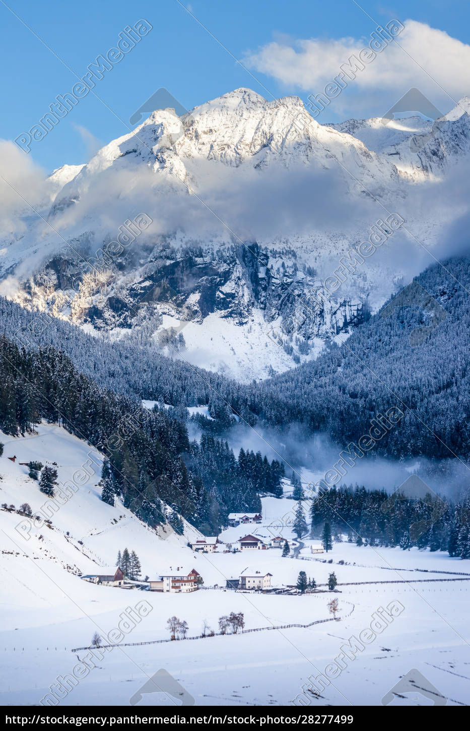 snowy, valley, in, valle, aurina - 28277499
