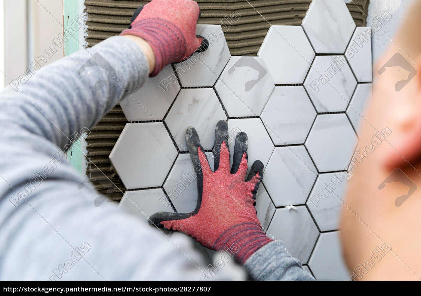 tiling, -, man, laying, marble, texture - 28277807