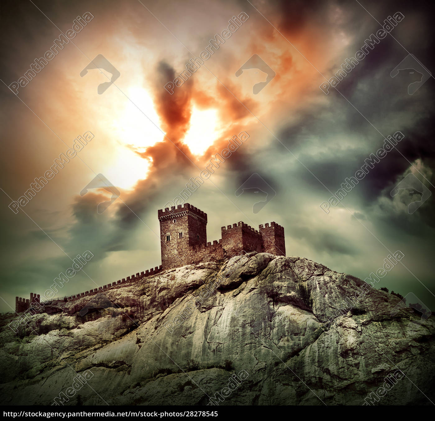 ancient, fortress, on, the, hill - 28278545