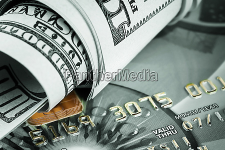 background, of, dollars, and, bank, cards - 28278676