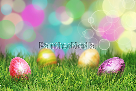 beautiful, easter, background, with, colorful, easter - 28278298