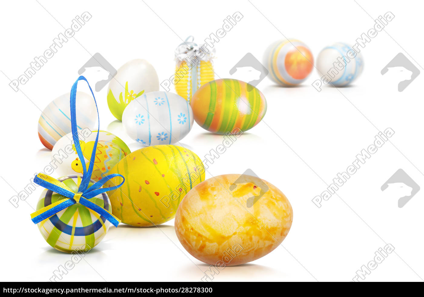 beautiful, easter, background, with, colorful, easter - 28278300