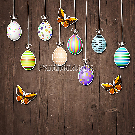 beautiful, easter, background, with, colorful, easter - 28278339