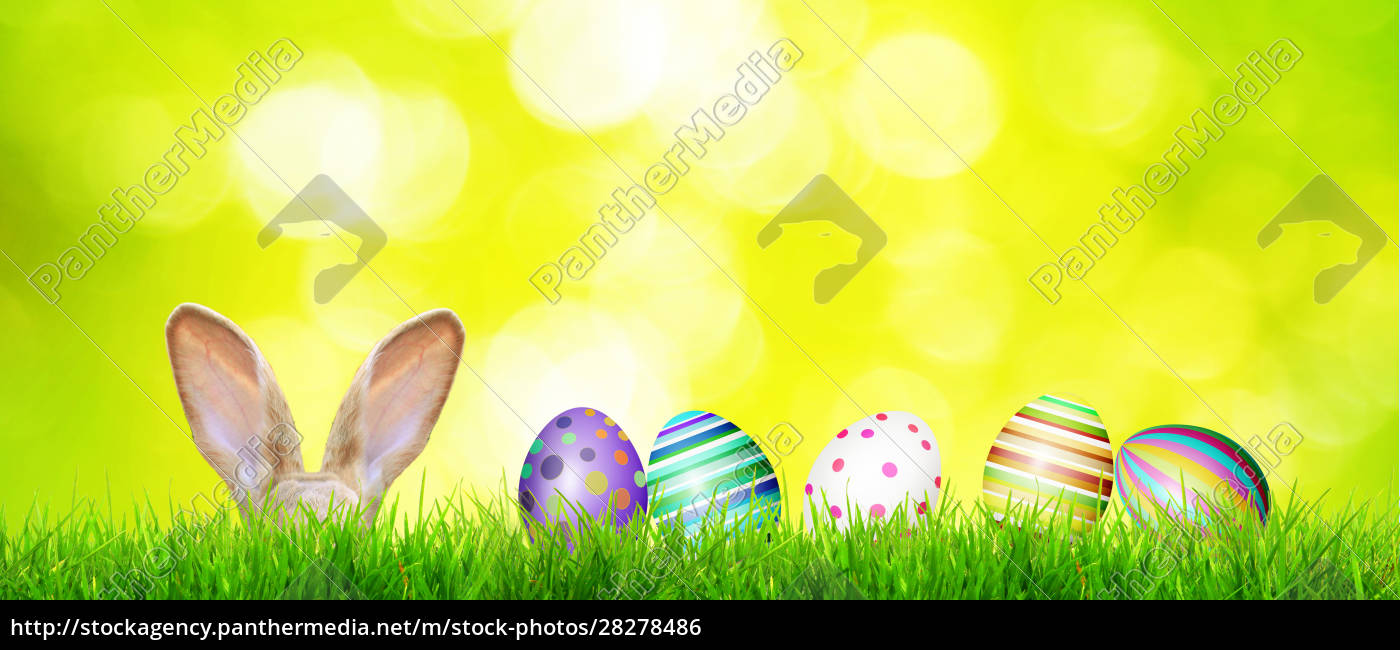 beautiful, easter, background, with, colorful, easter - 28278486