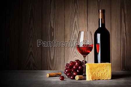 bottle, and, glass, of, red, wine - 28278604