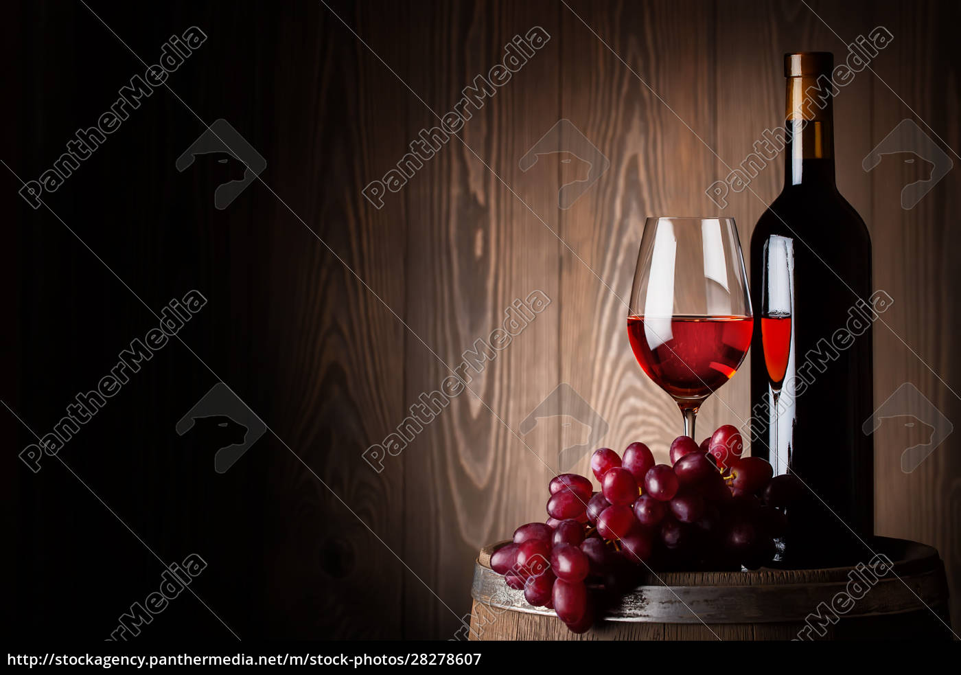 bottle, and, glass, of, red, wine - 28278607