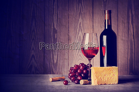 bottle, and, glass, of, wine, with - 28278609