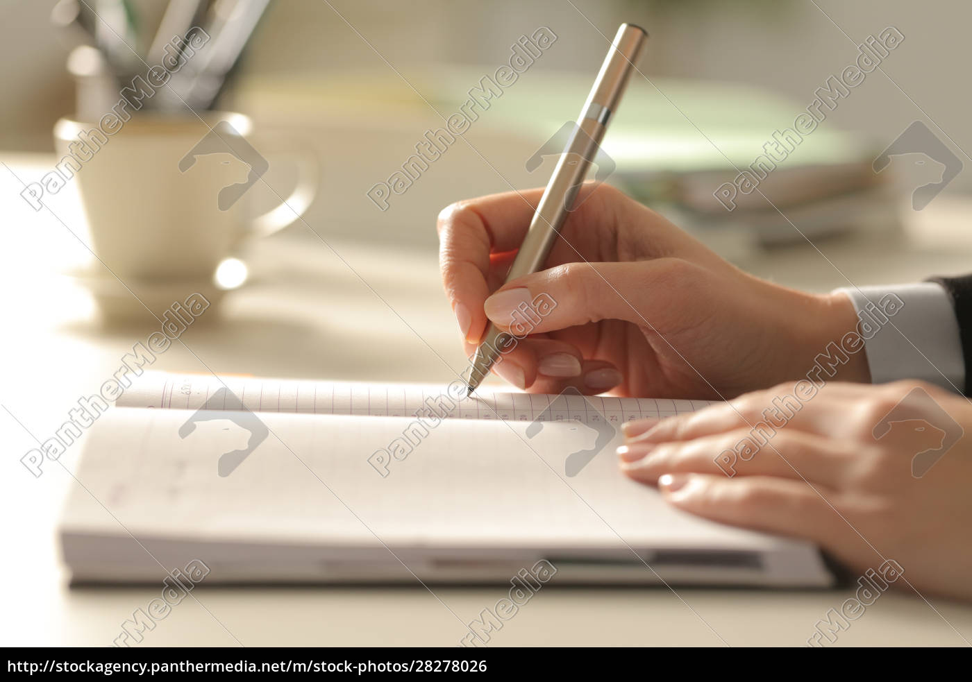 business, woman, hands, writing, on, agenda - 28278026