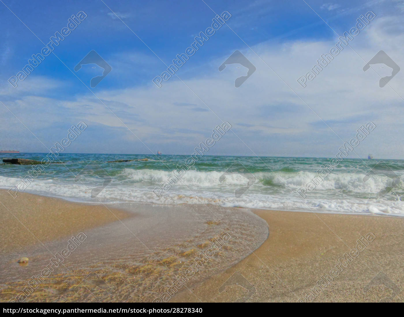 crystal, clear, sea, waves, and, blue - 28278340