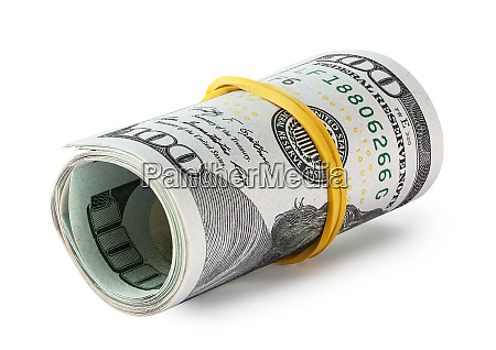 hundred-dollar, bills, rolled, into, a, roll - 28278646