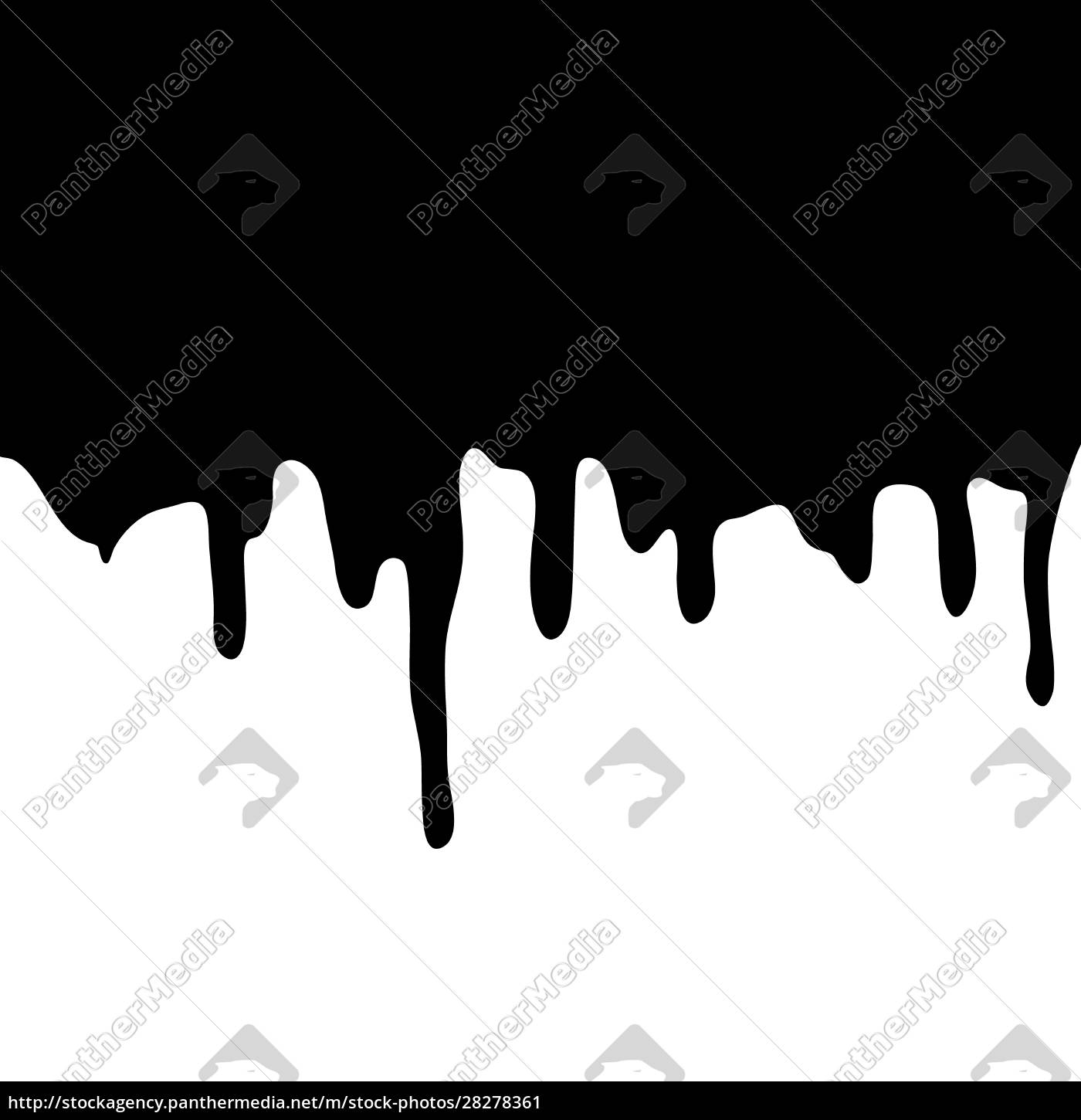 melting, chocolate, dripping, on, white, background. - 28278361