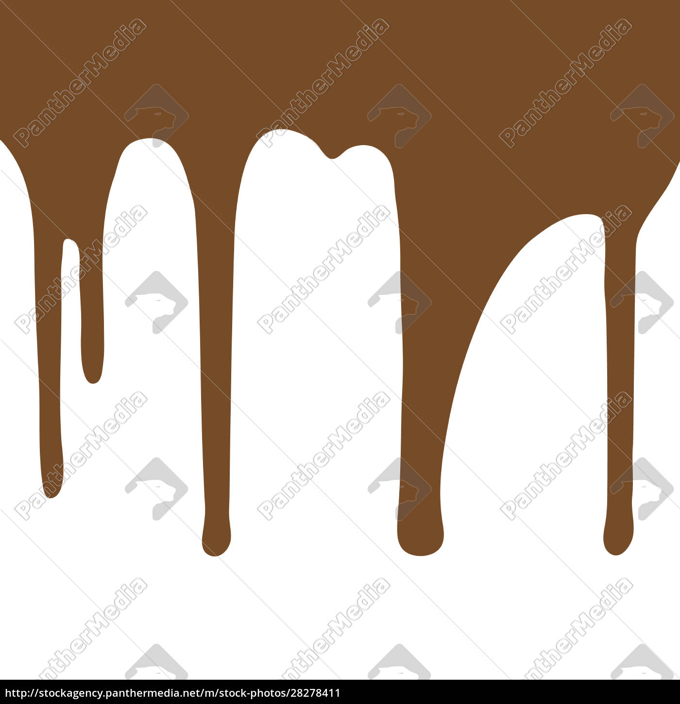 melting, chocolate, dripping, on, white, background. - 28278411