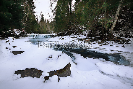 mountain, river, in, ice, in, a - 28278718