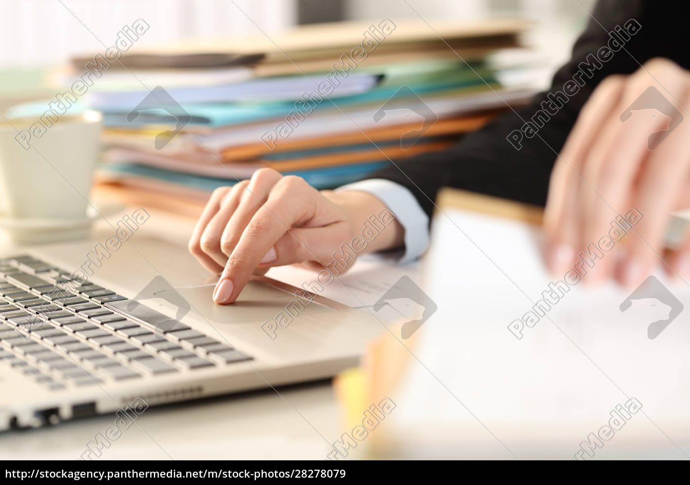 overworked, executive, hands, checking, documents, using - 28278079