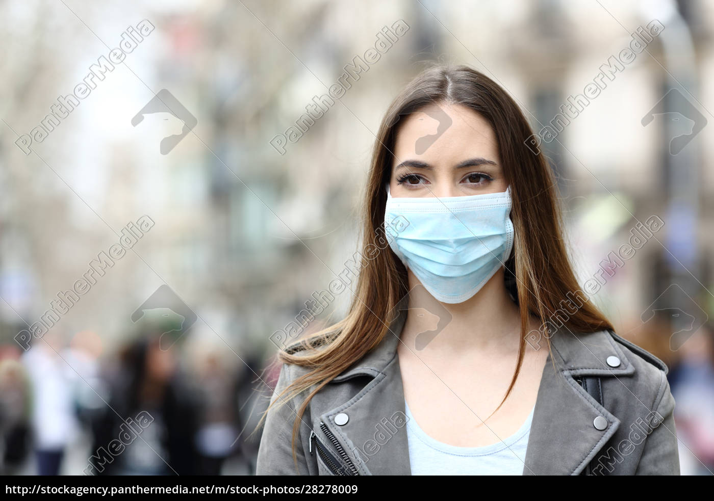 serious, woman, with, mask, looking, away - 28278009