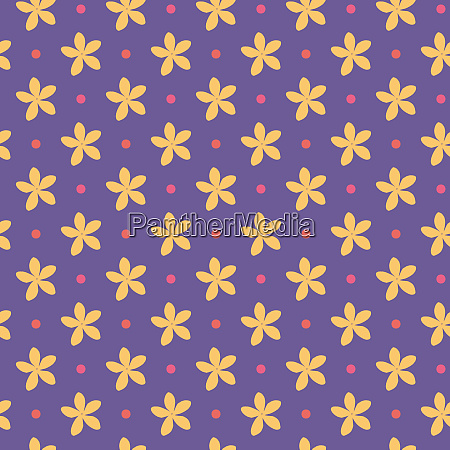 ultra, violet, seamless, pattern, with, flowers - 28278812