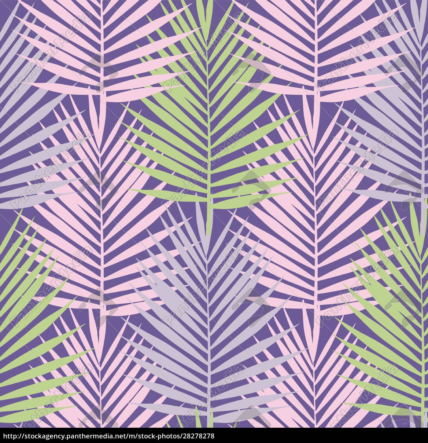 ultra, violet, tropical, palm, leaves, seamless - 28278278