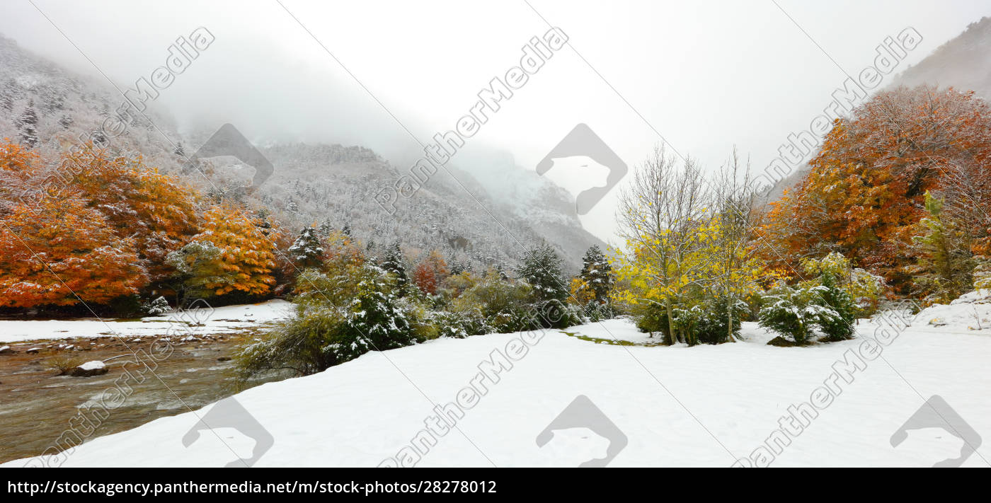 winter, landscape, with, river, and, snow - 28278012
