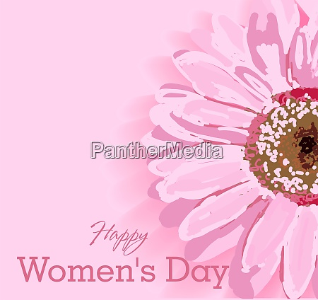 womens day text design with flowers