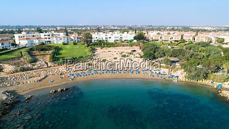 aerial sirena beach protaras cyprus