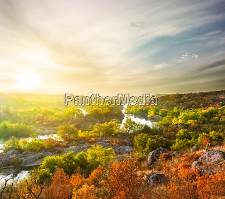 autumn, landscape, with, mountain, rive - 28279557