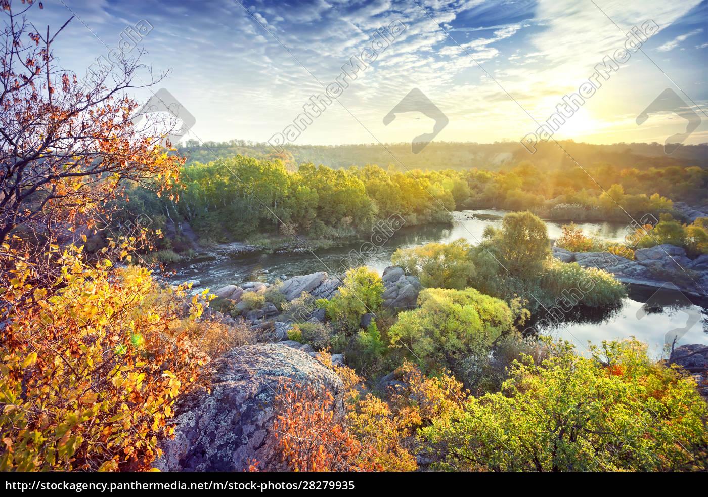 bend, mountain, river, in, rocks - 28279935