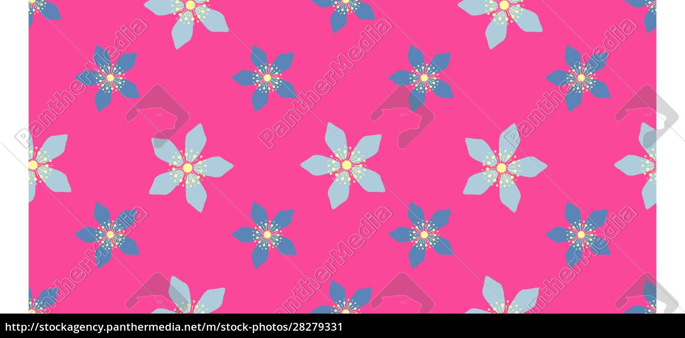 bright, easter, pattern, with, spring, flowers. - 28279331
