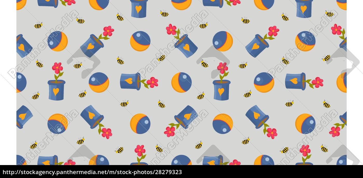 cheerful, cute, balls, pattern., flowers., the - 28279323