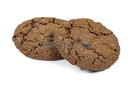 dark, chocolate, chips, cookies, on, white - 28279184