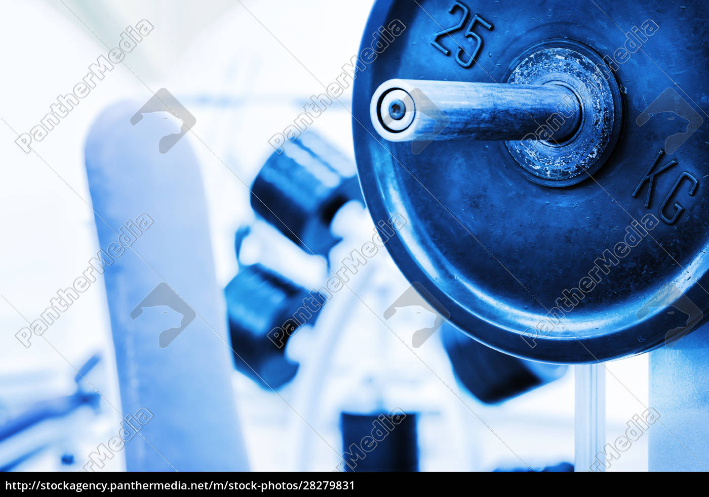 detail, barbell, from, bench - 28279831