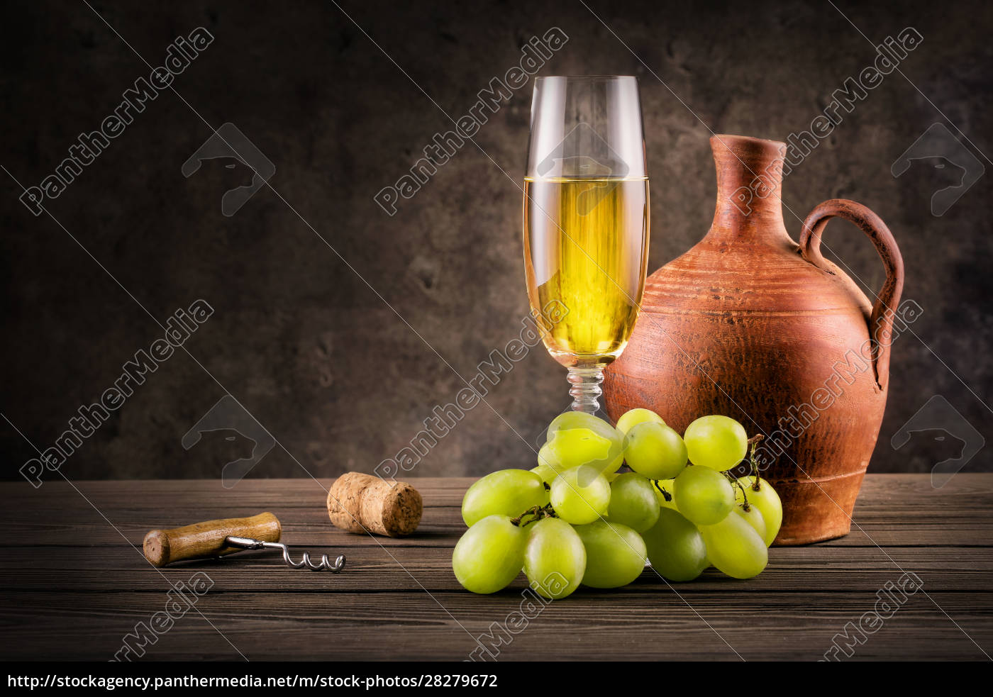 glass, of, white, wine, , pitcher, and - 28279672