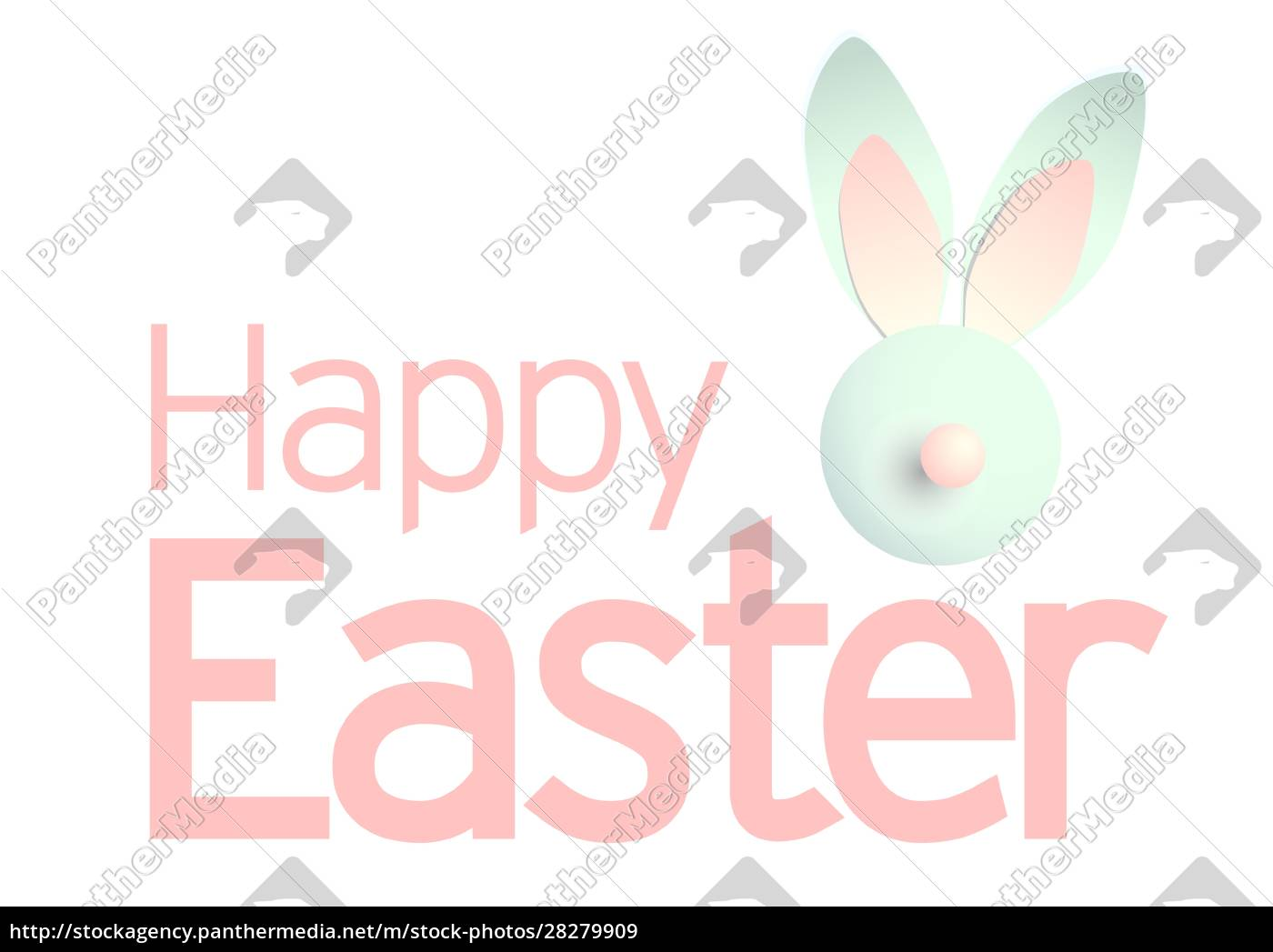 happy, easter, background, with, realistic, decorated - 28279909