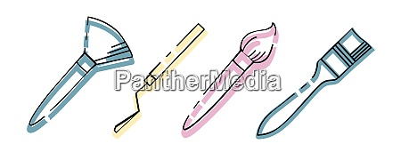 icon, set., tools, of, the, artist. - 28279290