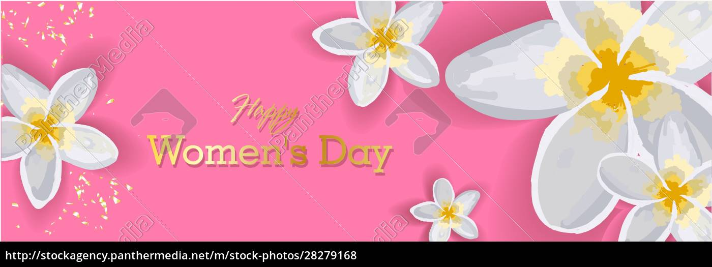 march, 8, pink, floral, greeting, card. - 28279168